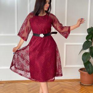Italian lace evening dress