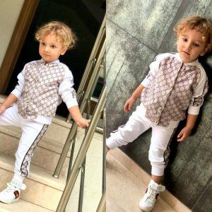 New Stylish Children's Active-Pyjama Suit Set Two Pieces:
