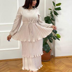 New Stylish Crystal Crepe Dress