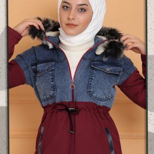 New Model Stylish Jacket - Half Bondick Half Jeans Fur Quilted Jacket